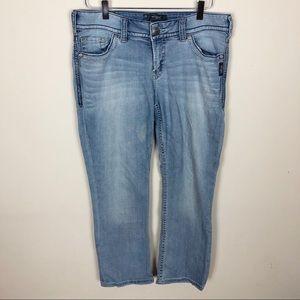 Silver Jeans Suki Capri - Light wash